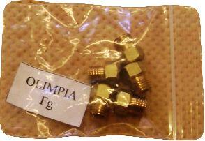 Olimpia és T5 gáztűzhely Fg fúvóka készlet