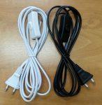 Kéteres szerelt vezeték kapcsolóval - fekete VAGY fehér színben